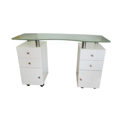 שולחן לבניית ציפורניים 4 מגירות ו2 ארונות