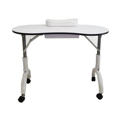 שולחן עבודה אליפסה רגליים מתקפלות מגירה