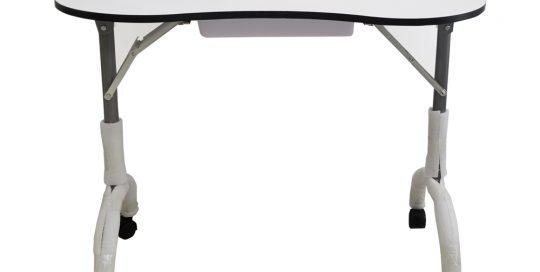 שולחן מניקור אליפסה רגליים מתקפלות