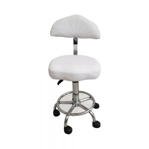 כסא לבן עם גב צר לקוסמטיקאית