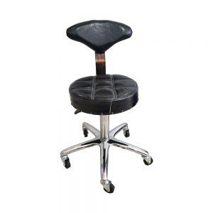 כסא שחורעם גב צר לקוסמטיקאית