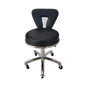 כסא שחור עם גב צר לקוסמטיקאית